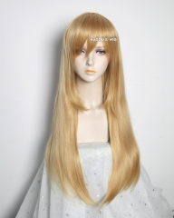 L-2 / KA012 golden blonde 75cm long straight wig . Hiperlon fiber