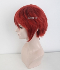 "S-1 / KA042>>31cm / 12.2"" short apple red layered wig, easy to style,Hiperlon fiber"