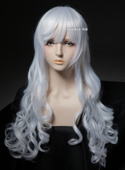L-1 / KA001 snow white 75cm long curly wig . Hiperlon fiber