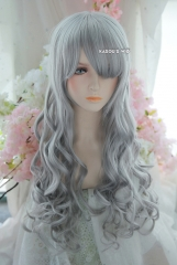 L-1 / KA003 light gray 75cm long curly wig . Hiperlon fiber