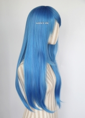 L-2 / KA048 Dodger Blue  75cm long straight wig . Hiperlon fiber