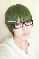 Kuroko no basketball /  KNB  Midorima Shintaro short smooth  olive green cosplay wig