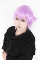 Soul Eater Crona short layers light purple cosplay wig . pre cut bangs