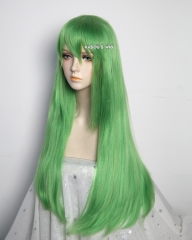 L-2 / KA060 light green 75cm long straight wig . Hiperlon fiber
