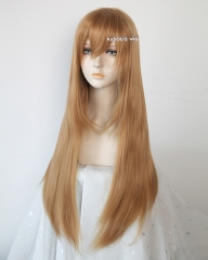 L-2 / KA018 ginger orange 75cm long straight wig . Hiperlon fiber