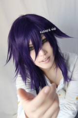 D. N. Angel Dark purple cosplay wig /  45cm