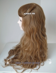 Harry Potter Hermione Granger light brown 80cm long wave wig . lolita hair . suitable for daily wear