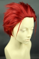 K project Suoh Mikoto pre styled dark red all back cosplay wig  (KA042)
