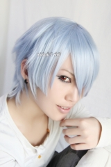 Pandora Hearts Xerxes Break short light blue pre cut Cosplay Wig
