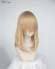 M-1/ KA012 golden blonde long bob cosplay wig. shouder length lolita wig suitable for daily use