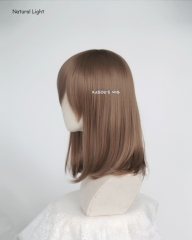 M-1/ KA024  light brown long bob cosplay wig. shouder length lolita wig suitable for daily use