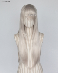 L-2 / SP05 pearl white  75cm long straight wig . Tangle Resistant fiber