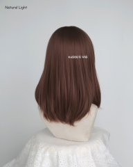 M-1/ KA026 Walnut Brown long bob cosplay wig. shouder length lolita wig suitable for daily use