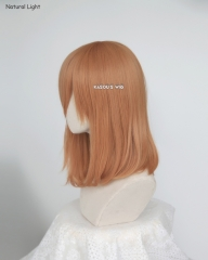 M-1/ SP19 pastel orange long bob cosplay wig. shouder length lolita wig suitable for daily use