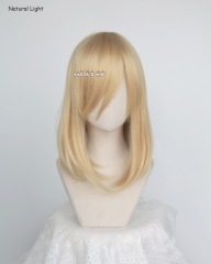 M-1/ KA011 Honey Butter blonde long bob cosplay wig. shouder length lolita wig suitable for daily use