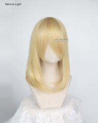 M-1/ KA010 light yellow blonde long bob cosplay wig. shouder length lolita wig suitable for daily use