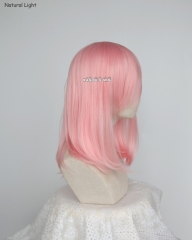 M-1/ KA033 light pink long bob cosplay wig. shouder length lolita wig suitable for daily use