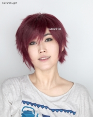 "S-1 / SP18>>31cm / 12.2""  wine red short layered wig easy to style . Tangle Resistant fiber"