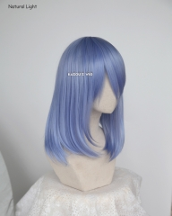 M-1/ KA055 cornflower blue long bob cosplay wig. shouder length lolita wig suitable for daily use