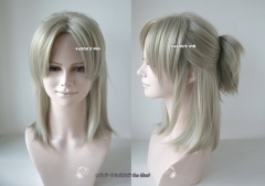 Gangsta Worick Arcangelo light ash blonde half ponytail with a small fluffy clip . 45cm ( SP27 )