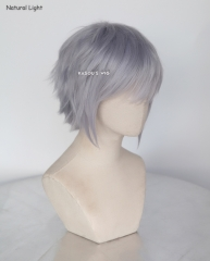 "S-1 / SP26>>31cm / 12.2""  short silver Lavender layered wig, easy to style,Hiperlon fiber"