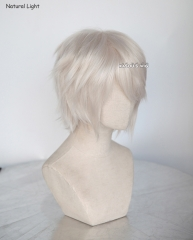 "S-1 / SP05>>31cm / 12.2"" short pearl white layered wig, easy to style,Hiperlon fiber"