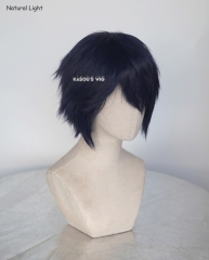 "Persona 4 Shirogane Naoto S-1 / SP03>>31cm / 12.2""  short deep blue layered wig, easy to style,Hiperlon fiber"