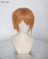 "S-1 / SP19>>31cm / 12.2"" short pastel orange layered wig, easy to style,Hiperlon fiber"