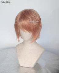 "S-1 / SP20>>31cm / 12.2"" short peach pink layered wig, easy to style,Hiperlon fiber"