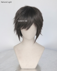"S-1 / SP09>>31cm / 12.2"" short dark gray layered wig, easy to style,Hiperlon fiber"