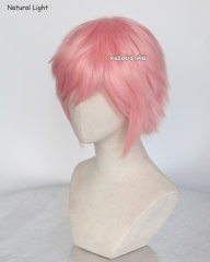"S-1 / SP12>>31cm / 12.2""  short pastel pink layered wig, easy to style,Hiperlon fiber"