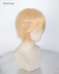 "S-1 / SP23 >>31cm / 12.2"" light peach short layered wig easy to style . Tangle Resistant fiber"