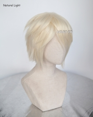 "S-1 / SP25 >> 31cm / 12.2"" pale blonde short layered wig easy to style . Tangle Resistant fiber"