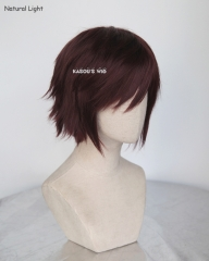 "S-1 / KA029>>31cm / 12.2"" short milk chocolate layered wig, easy to style,Hiperlon fiber"