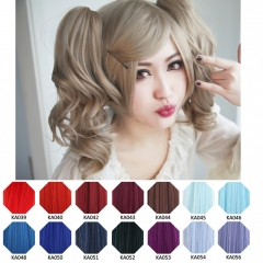 KA039- KA056 A-1 / curly clip on ponytail. 35cm bouncy layered curls