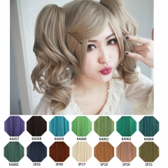 KA057-SP40 A-1/ curly clip on ponytail. 35cm bouncy layered curls
