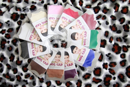 Wig stocking cap hair net 11 colors available.