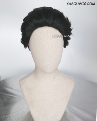 Yuri !!! on Ice Yuri Katsuki black all back cosplay wig. KA032