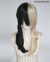 Prince of Stride Himemiya Yuri blonde black split pigtails cosplay wig