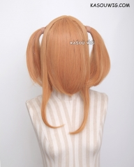 "M-2/ SP19 ┇ 50CM / 19.7"" pastel orange pigtails base wig with long bangs."