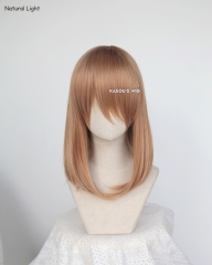 M-1/ KA023 caramel long bob cosplay wig. shouder length lolita wig suitable for daily use