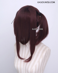 "M-2/ KA029 ┇ 50CM / 19.7"" milk chocolate pigtails base wig with long bangs."