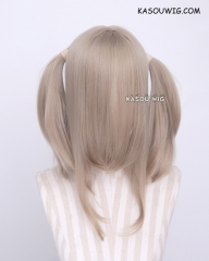 "M-2/ KA016 ┇ 50CM / 19.7"" tanned blonde pigtails base wig with long bangs."