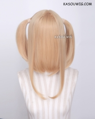 "M-2/ KA012 ┇ 50CM / 19.7"" golden blonde  pigtails base wig with long bangs."