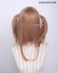 "M-2/ KA023 ┇ 50CM / 19.7"" caramel pigtails base wig with long bangs."