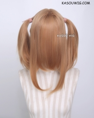 "M-2/ KA018 ┇ 50CM / 19.7"" ginger orange pigtails base wig with long bangs."