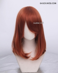 M-1/ SP06 Auburn  long bob cosplay wig. shouder length lolita wig suitable for daily use