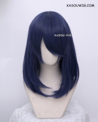 M-1/ SP03 deep blue  long bob cosplay wig. shouder length lolita wig suitable for daily use