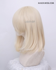 M-1/ SP17 light cream blonde long bob cosplay wig. shouder length lolita wig suitable for daily use