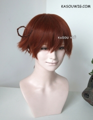 Axis Powers Hetalia APH South Italy Lovino Vargas reddish brown short layers cosplay wig with ahoge